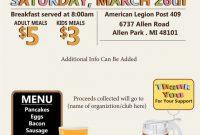Pancake Breakfast Fundraiser Flyer Template Free Idea (2nd Design)