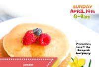 Pancake Breakfast Fundraiser Flyer Template Free Idea (3rd Design)