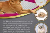 Pet Sitter Flyer Template Free Download (1st Design Sample)