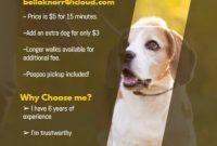 Pet Sitter Flyer Template Free Download (2nd Design Sample)