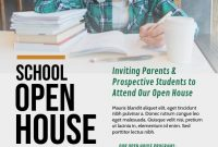 Professional Open House School Flyer Template Design Free