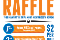 Raffle Poster Template Word Format (2nd Design Sample)