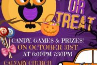 1st Halloween Trunk or Treat Flyer Template Free