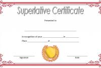 1st Superlative Certificate Template Word Free Editable