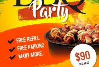 2nd BBQ Flyer Template PSD Free Design