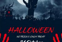 2nd Dark Halloween Flyer Template Free Design Idea