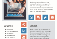 2nd Email Marketing Flyer Template Free Design Sample