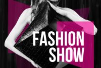 2nd Fashion Show Flyer Template Free Design Sample