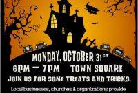 2nd Halloween Trunk or Treat Flyer Template Free Design Idea