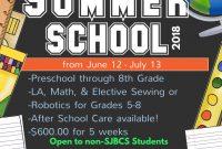 2nd Summer School Flyer Template Free Design Idea