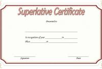 2nd Superlative Certificate Template Word Free Editable