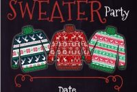 2nd Ugly Christmas Sweater Party Flyer Template Free Design