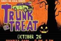 3rd Halloween Trunk or Treat Flyer Template Free Design Idea