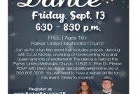3rd Homecoming Dance Flyer Template Free Design Idea