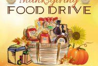 4th Printable Thanksgiving Food Drive Flyer Template Free Design