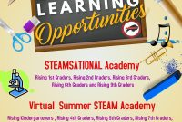 4th Summer School Flyer Template Free Design Idea