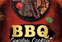 BBQ Cook Off Flyer Template Free Design (2nd Idea)