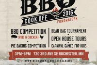 BBQ Cook Off Flyer Template Free Design (3rd Idea)