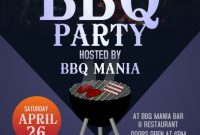 BBQ Flyer Template Word Free Design (1st Sample)