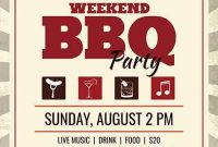 BBQ Flyer Template Word Free Design (3rd Sample)