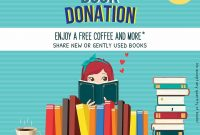 Book Donation Flyer Template Free (2nd Version)