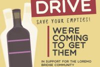 Can and Bottle Drive Flyer Template Free Design Sample (4th Reference)