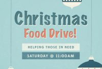 Christmas Food Drive Flyer Template Free Idea (2nd Design)