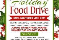Christmas Food Drive Flyer Template Free Idea (3rd Design)