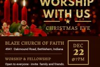 Church Christmas Flyer Template Free Printable (1st Best Option)