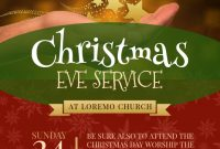 Church Christmas Flyer Template Free Printable (2nd Best Option)