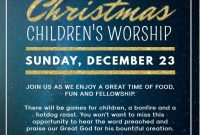Church Christmas Flyer Template Free Printable (3rd Best Option)