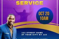 Church Homecoming Flyer Template Free Printable (1st Design Idea)