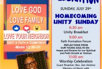 Church Homecoming Flyer Template Free Printable (2nd Design Idea)