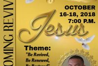 Church Homecoming Flyer Template Free Printable (3rd Design Idea)