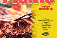 Company BBQ Flyer Template Free Printable (3rd Design)