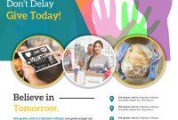 Donation Flyer Template Free Printable (3rd Beautiful Design Idea)