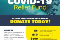 Donation Poster Template Free (1st Covid-19 Design)