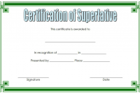 FREE Superlative Certificate Template Microsoft Word (2nd Best Option)