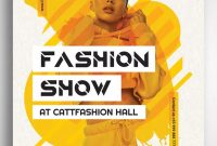 Fashion Show Flyer Template PSD Format Free (1st Reference)