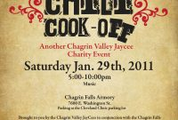Free Chili Cook Off Flyer Template Design (2nd Best Sample)