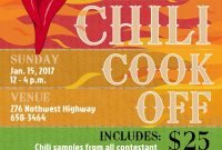 Free Chili Cook Off Flyer Template Design (3rd Best Sample)