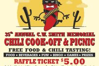 Free Chili Cook Off Flyer Template Design (5th Best Sample)