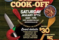 Free Chili Cook Off Flyer Template Design (6th Best Sample)