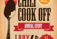 Free Chili Cook Off Flyer Template Powerpoint (1st Hot Idea)