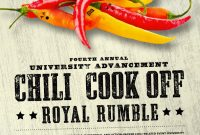 Free Chili Cook Off Flyer Template Powerpoint (2nd Hot Idea)