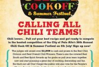Free Chili Cook Off Flyer Template Powerpoint (3rd Hot Idea)