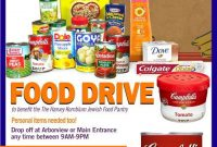 Free Food Drive Flyer Template Word Design (2nd Idea)