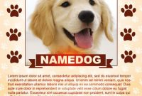 Free Printable Lost Dog Flyer Template (3rd Design)