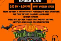 Free Printable Trunk or Treat Flyer Template (1st 2021 Design Idea)