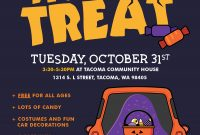 Free Printable Trunk or Treat Flyer Template (2nd 2021 Design Idea)